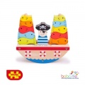 Big Jigs Rocking Pirate Boat Balance Game