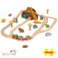 Big Jigs Dinosaur Railway Wooden Train Set