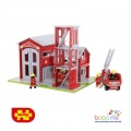 Bigjigs Fire Station and Engine