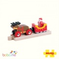 Big Jigs Santa Sleigh with Reindeer Train