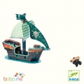 Djeco Pirate boat 3D Pop to play