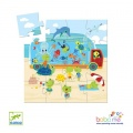 Djeco The aquarium - 16pieces Silhouette puzzles