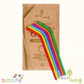 Eco Living 6 Silicone Straws Standard