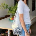 Grey String Reusable Shopping Bag