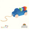 Grimms Blue Truck Pull Toy