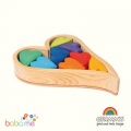 Grimms Building Set Rainbow Hearts