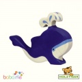 Holztiger Blue whale with water fountain 80195