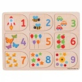Bigjigs Picture and Number Matching Puzzle