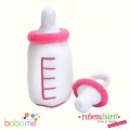 Rubens Baby Baby Pink bottle & dummy