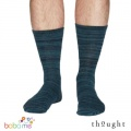 Thought Luther Organic Cotton Space Dye Bamboo Socks Navy Blue