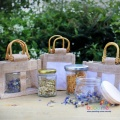 Two Jar Jute Gift Bag - Natural