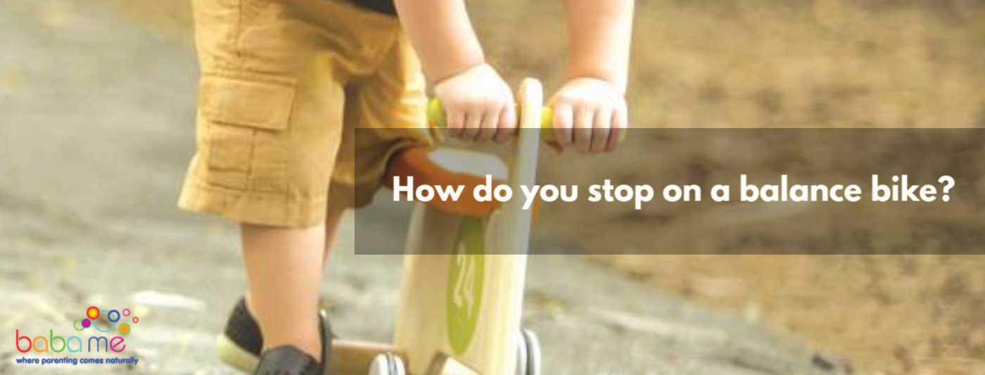 How do you stop on a balance bike