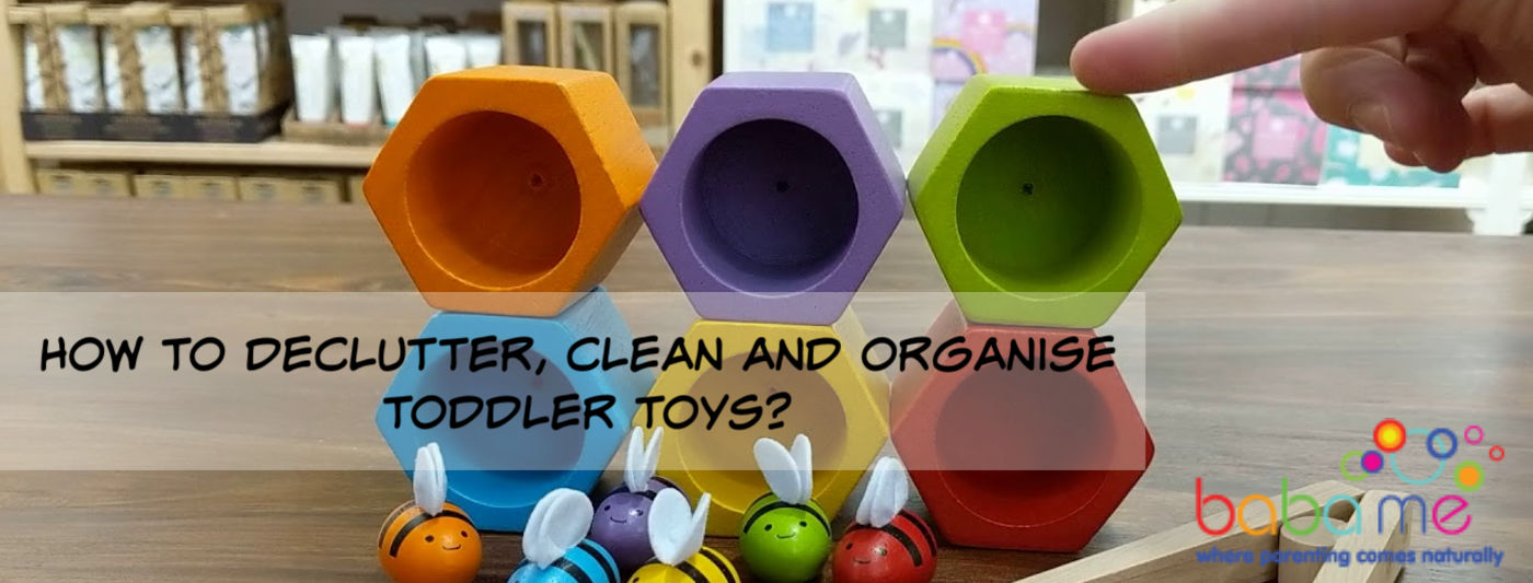 How to declutter and organise toddler toys