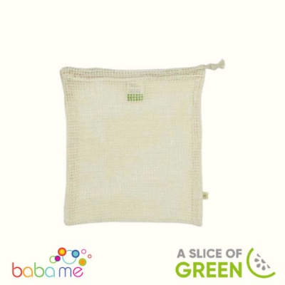 A Slice Of Green Organic Cotton Mesh Produce Bag Medium (26X32Cm)