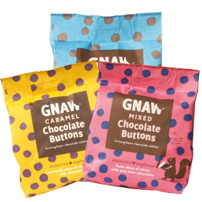Gnaw Chocolate Buttons 3 Bag Bundle