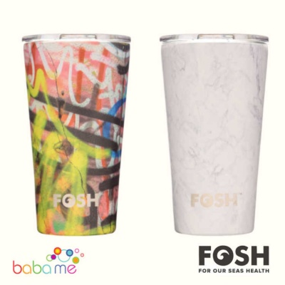 FOSH Social Beaker Prints Reusable Coffee Cup