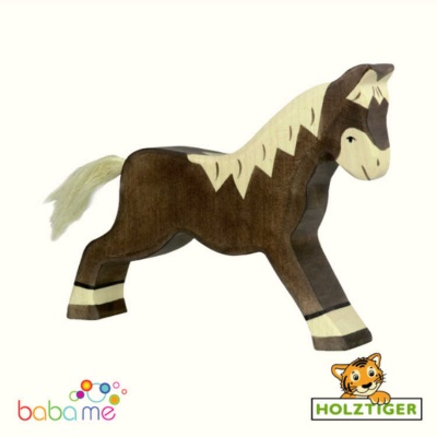HOLZTIGER Horse Dark Brown running