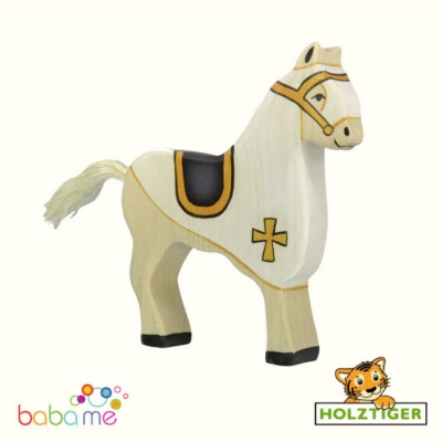 HOLZTIGER Tournament horse white
