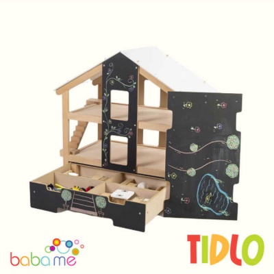 TIDLO FURNISHED OPEN PLAN DOLLS HOUSE