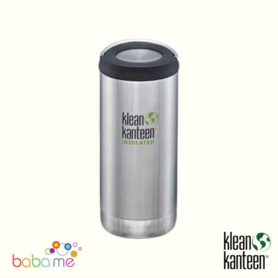 Klean Kanteen Tkwide 355ml/12oz Wide Loop Cap Brushed Stainless