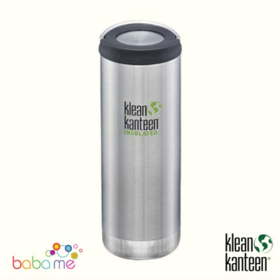 Klean Kanteen Tkwide 16Oz Wide Loop Cap Brushed Stainless