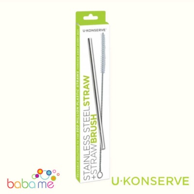 U-Konserve Stainless Steel Straw & Straw Brush