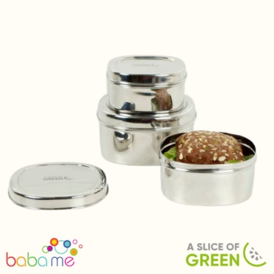 A Slice Of Green Bankura Set Of Three Containers