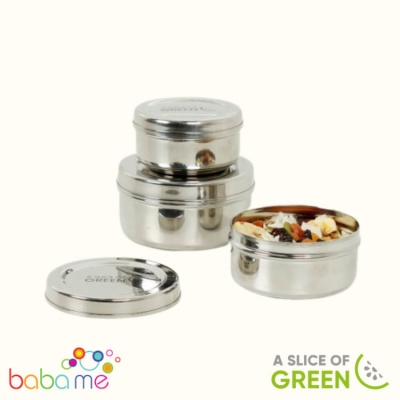 A Slice Of Green Kadapa Set Of Three Containers