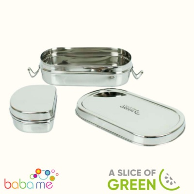 A Slice of Green Kangra - Lunch Box with Mini Container