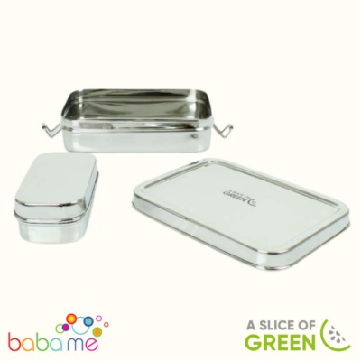 A Slice of Green Rampur Lunch Box with Mini