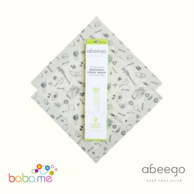 Abeego Beeswax Wraps Large 2 Pack