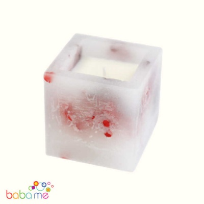 Enchanted Candle - Small Square Jar - Rose