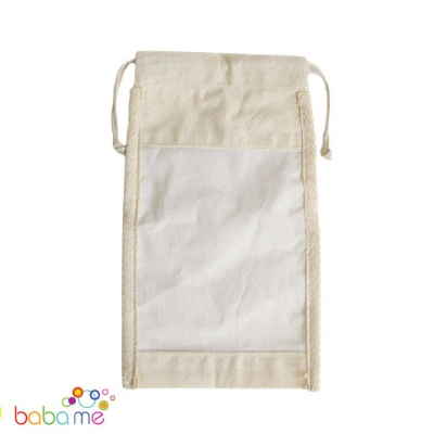 Large Cotton Window Pouch 26 x 15cm