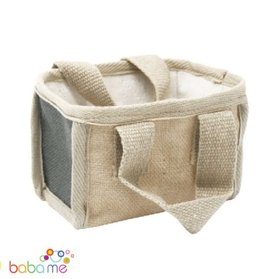 Jute Mini Shopping Basket  16 x 10 x 12cm