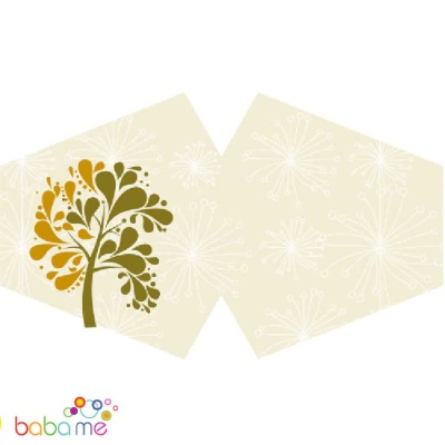 Reusable Fashion Face Covering - Golden Tree (Adult)