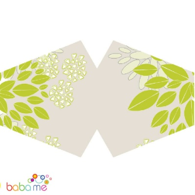 Reusable Fashion Mask Green Leaves (Adult)