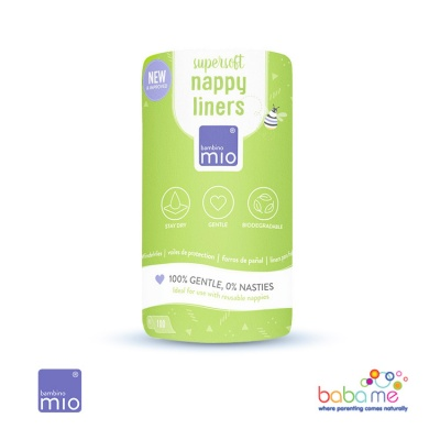 Bambino Mio Supersoft 100 pack Mioliners Nappy Liners