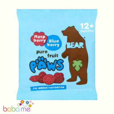 Bear Arctic Paws Raspberry & Blueberry Fruit Shapes
