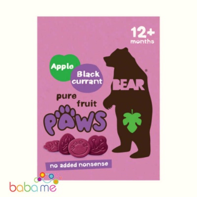 Bear Jungle Paws Apple & Blackcurrent Fruit Shapes