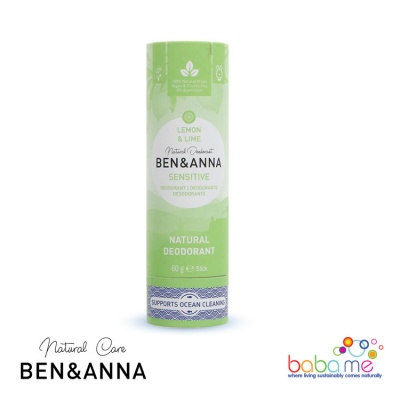 Ben & Anna Sensitive Lemon & Lime Plastic Free Deodorant
