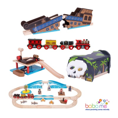 Big Jigs Pirate Wooden Train Set Bundle
