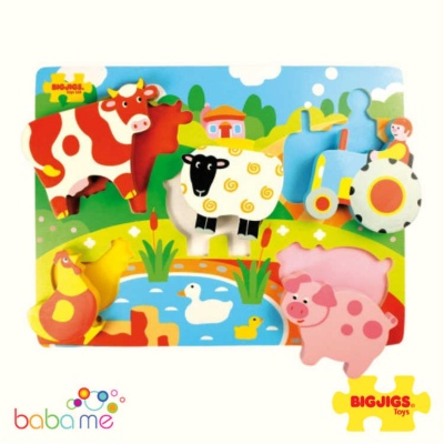 Bigjigs Chunky Lift Out Puzzle Farm