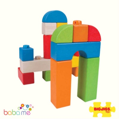 Bigjigs Click Blocks - Coloured - 100pce