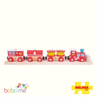 Big Jigs Fire & Rescue Wooden Train