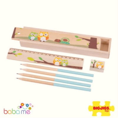 Bigjigs Owl Pencil Box