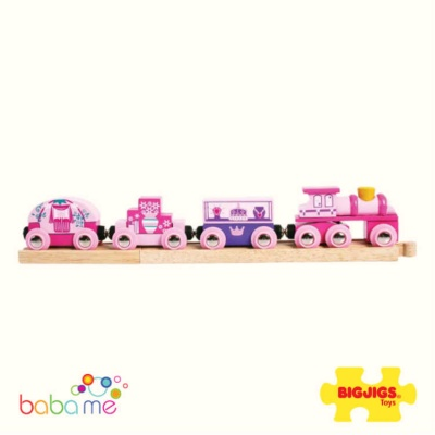 Big Jigs Princess Wooden Train