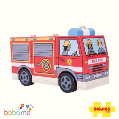 Bigjigs Stacking Fire Engine Toy