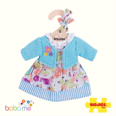 Bigjigs Turquiouse Cardigan and Dress Small