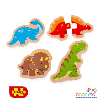 Bigjigs Two Piece Puzzles - Dinosaur