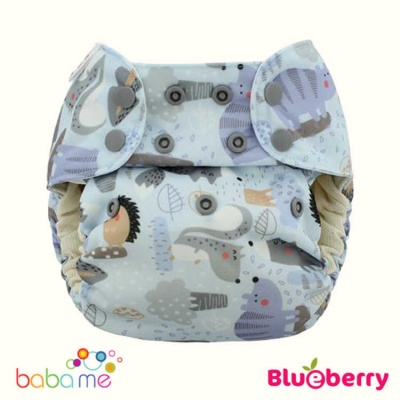 Blueberry Simplex Organic One Piece Reusable Nappies